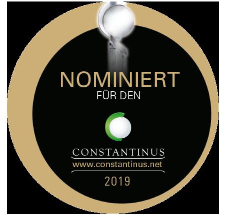 Loge der Nominierung zum Contantinus Award 2019 - 2022