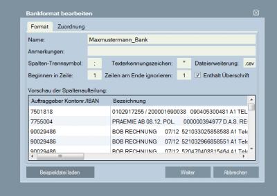 DATAC24-Bankimport 3